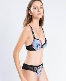 Soutien-gorge push-up imprimé floral (bonnets C) Imprimé Bleu Ciel Mélange Fleurs Femme IA8E4C-0S