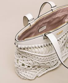 Borsa shopper in crochet Bianco Antique White Donna 201TO8130-05