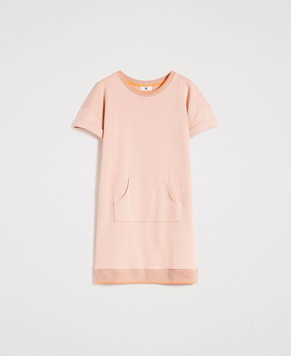 Fleece mini dress Delicate Pink Woman 191LL21AA-0S