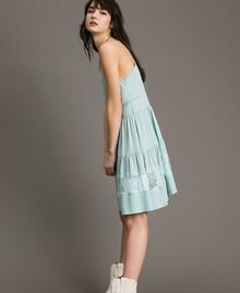 Silk blend and lace dress Acquamarine Woman 191TP2741-02