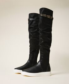 Trainer boots with logo Black Woman 202TCP038-03
