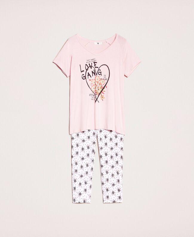 Floral print pyjamas Black Print Woman 201LL24CC-0S