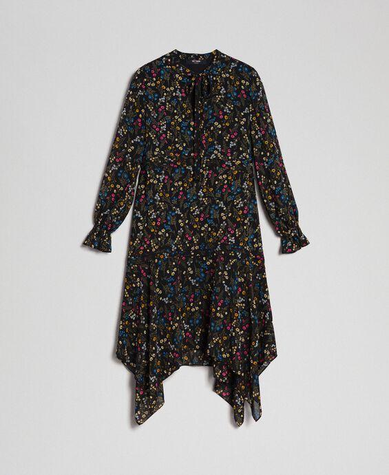 Robe asymétrique avec imprimé floral