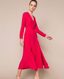 Long dress with slits Black Cherry Woman 201TP2433-02
