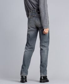 Vintage-inspired jeans Grey Denim Woman JA82YB-03