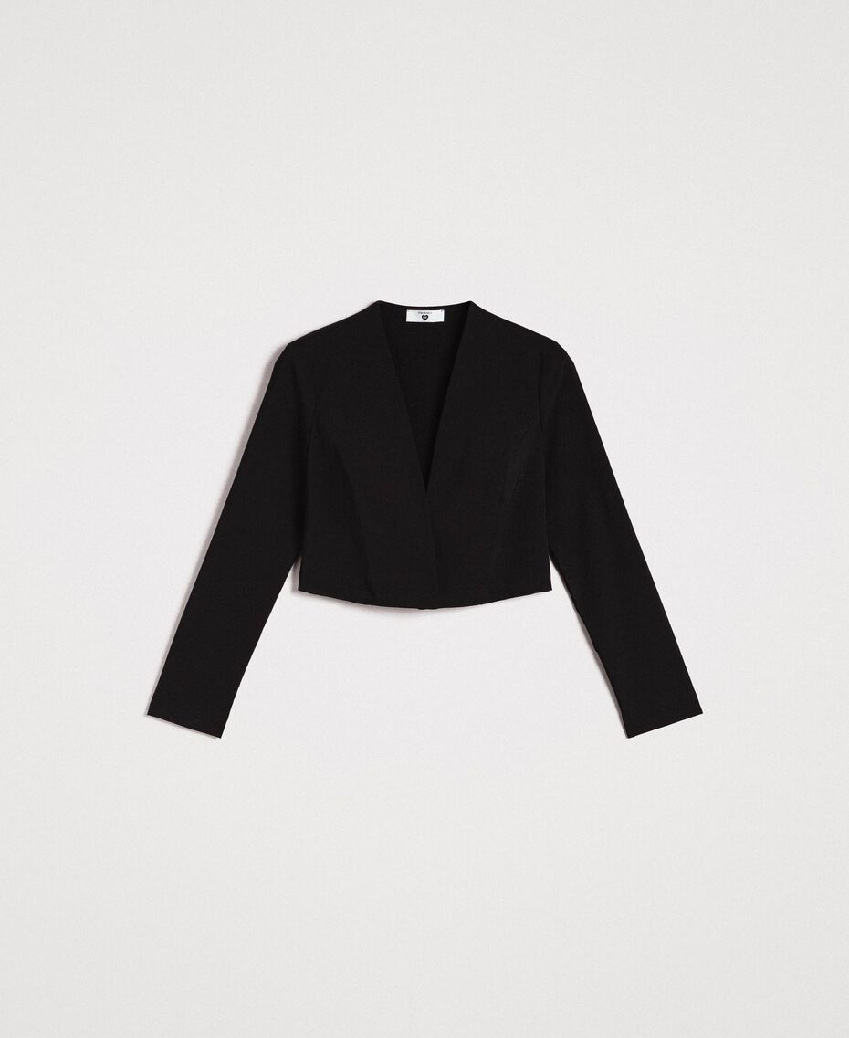 Cotton cropped jacket Black Woman 191LB22EE-0S