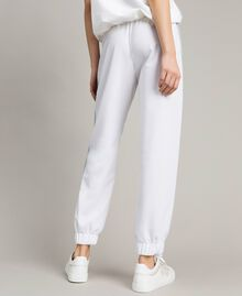 Pantalones de jogging con paneles de lúrex Blanco Mujer 191LL25KK-03