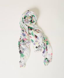 "Scarf with print ""Off White Spots"" Multicolour Woman 211MO5364-01"