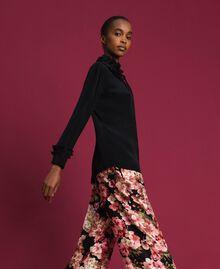 Crêpe de Chine silk blend shirt Black Woman 192TP2100-02