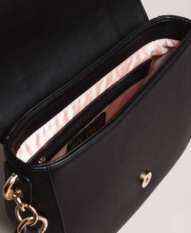 Sac à bandoulière en similicuir avec foulard Noir Femme 191MO8101-05