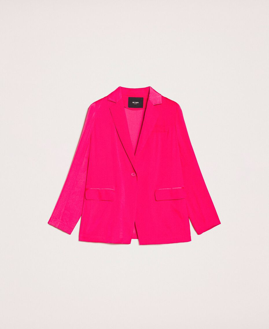 Satin blazer Wild Rose Woman 201MT2031-0S