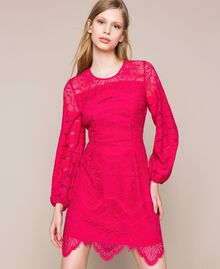 Macramé lace dress Black Cherry Woman 201TP2031-02