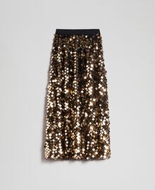 Midi skirt with sequins on tulle Sequin Embroidery Woman 192ST2213-0S
