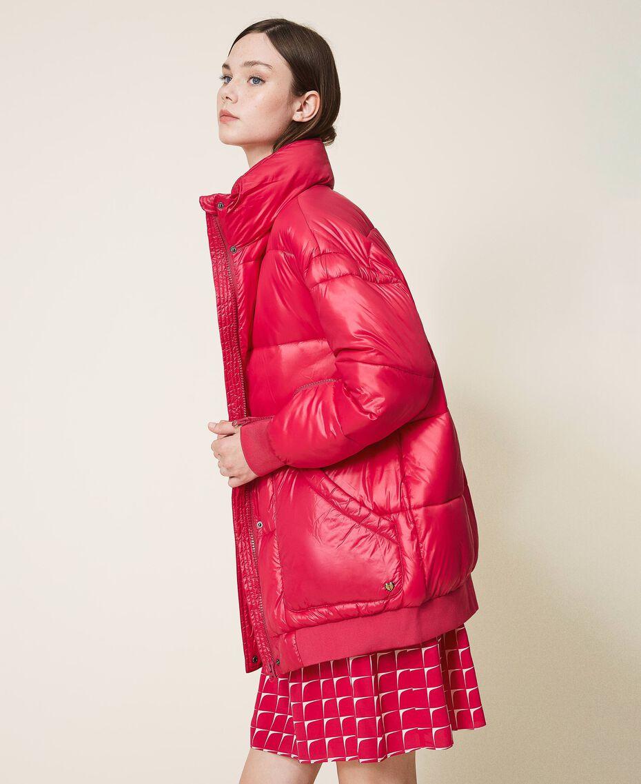 "Oversize puffer jacket with maxi pockets ""Cerise"" Fuchsia Woman 202MP2050-02"