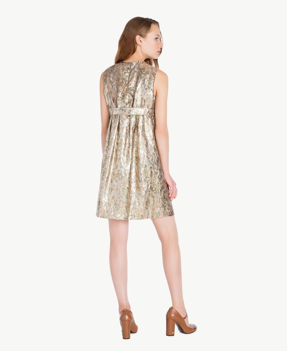 """Kleid aus Jacquard mit Lurex """"Lurex-Jacquard""""-Gold TA723C-03"""