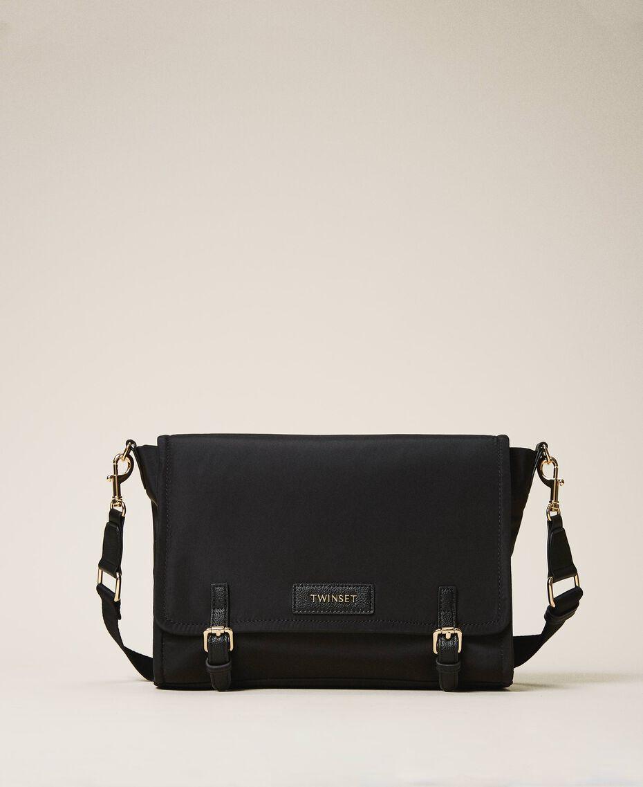 Satin Twinset Bag shoulder bag Black Woman 202TB7203-02
