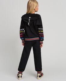 Printed logo sweatshirt Black Child 999GJ2012-01