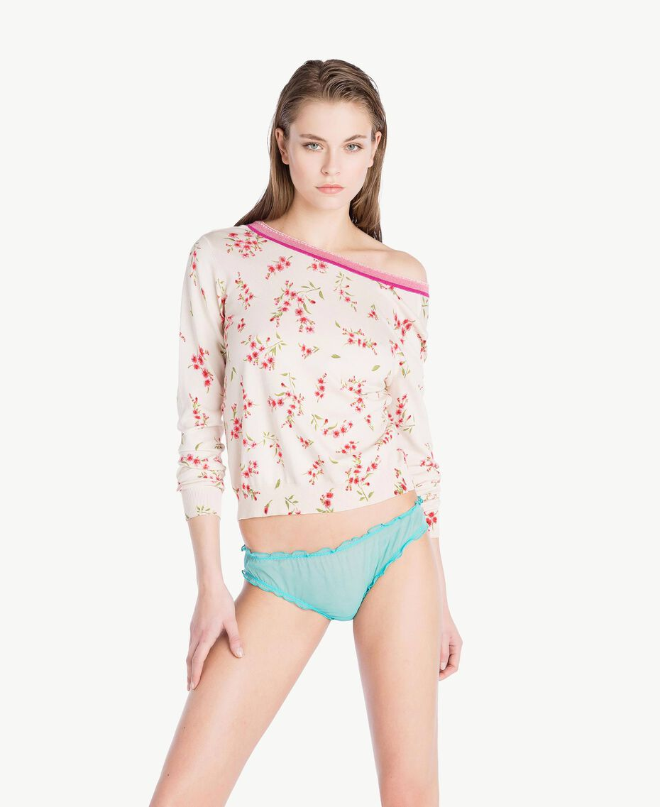 "Tulle briefs ""Paradise Candy"" Blue Woman LS8BYY-02"