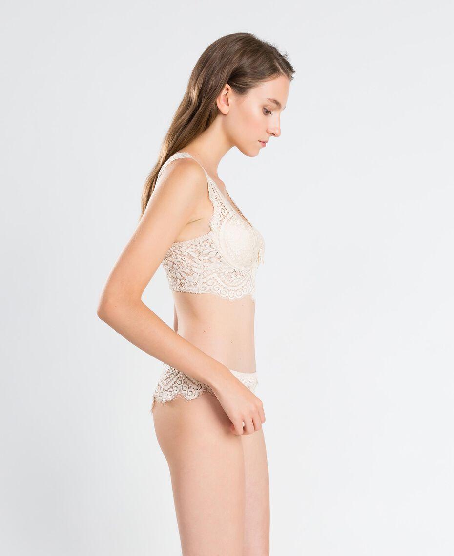 Slip brésilien en dentelle festonnée Blanc Femme IA8C77-02