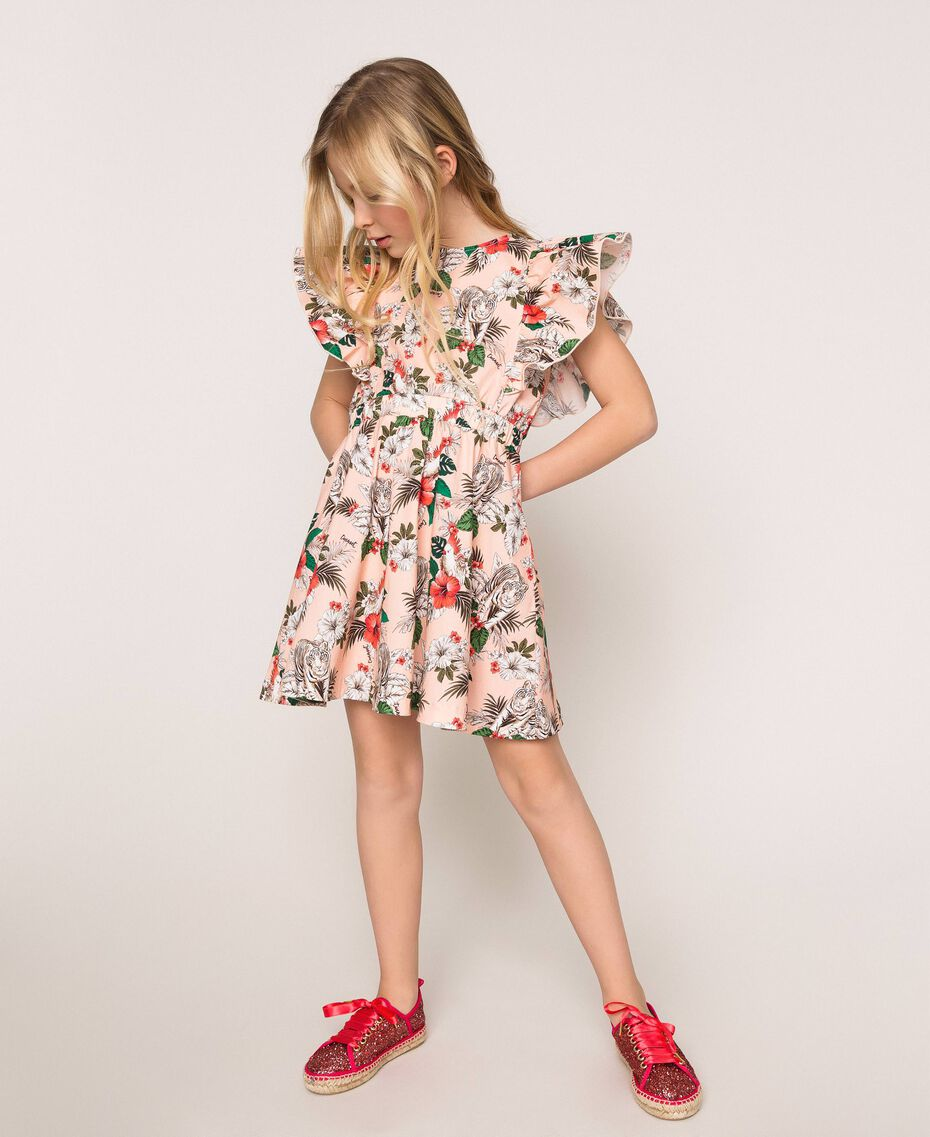 "Printed poplin dress ""Savannah"" Pink Print Child 201GJ2330-01"