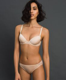 "Lace Brazilian briefs ""Nuditè"" Beige Woman 192LL6CXX-01"