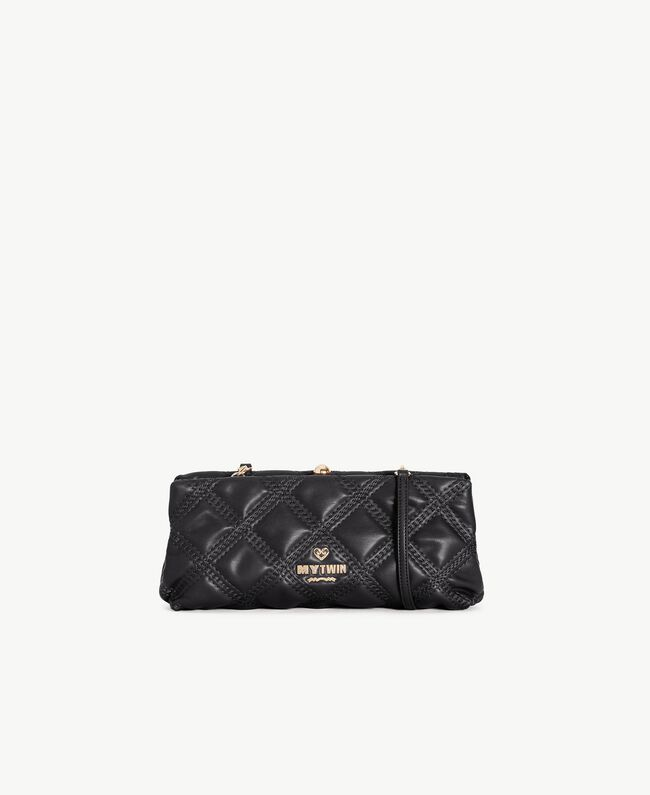 TWINSET Quilted clutch bag Black Female VA7PCT-01