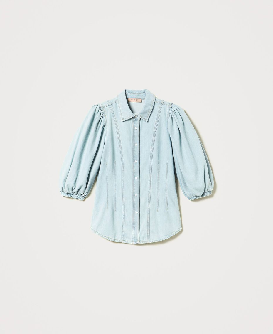 Denim shirt Light Denim Woman 211TT2373-0S
