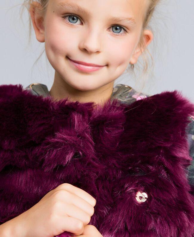Gilet en fausse fourrure dégradée Imprimé Dégradé Violet Raisin/ Rose Bougainvillier Enfant GA82ZA-04