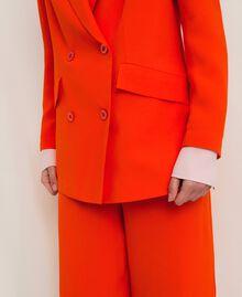 "Georgette blazer ""Ace"" Orange Woman 201LL2NHH-05"