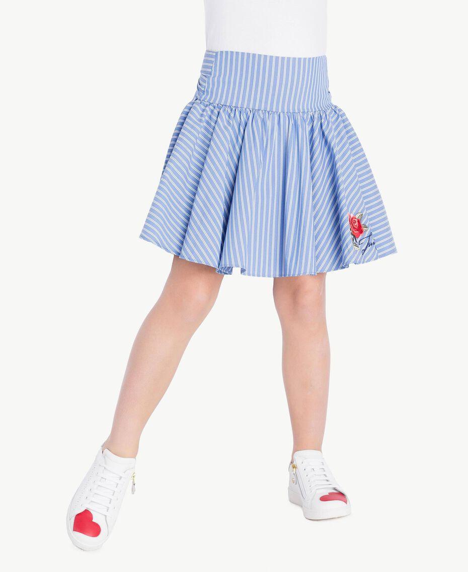 Poplin skirt Infinite Light Blue Jacquard Child GS82LQ-02