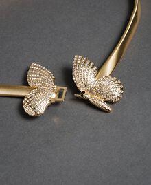 Schmuckgürtel mit Schmetterlingschnalle Gold Gelb Frau 192TA430G-02
