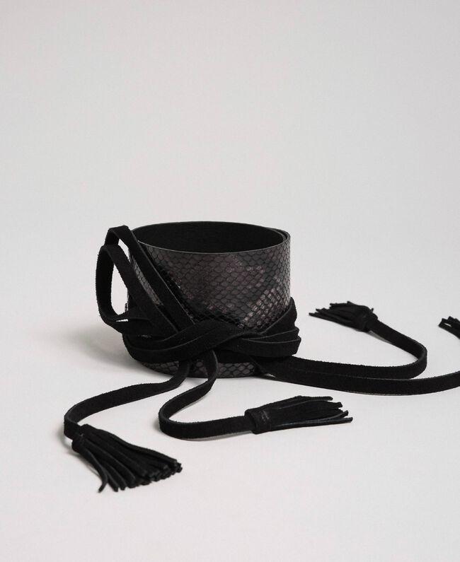 Python print belt with tassels Brandy Python Print Woman 192TO5344-01