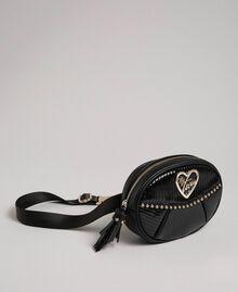 Borsa cintura in similpelle con borchie e nappa Nero Donna 192MO8015-02