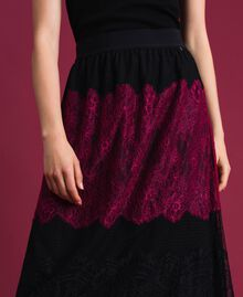 Colour block lace midi skirt Block Colour Woman 192TP2704-04