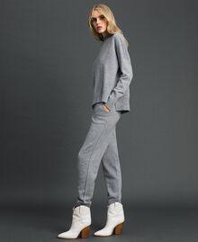 Pull en laine et cachemire Gris Mélangé Femme 192TT3025-02