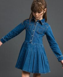 Denim effect shirt dress Mid Denim Child 192GJ2510-01