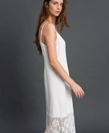Robe nuisette avec dentelle Blanc Femme 192ST2195-02