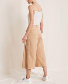 Pantalon cropped avec boutons Beige «Golden Powder» Femme 201LL2CPP-03