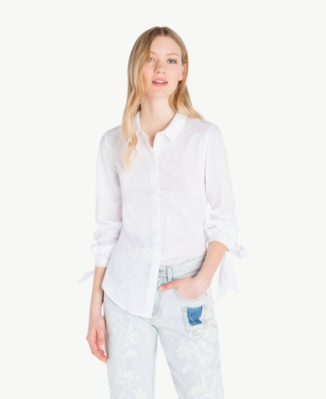 Bow shirt White Woman JS82DF-01