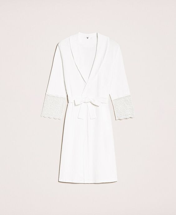 Lace dressing gown