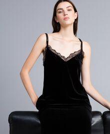 Long velvet dress Black Woman TA826N-04