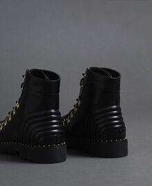 Combat boots with trekking-style fastening Black Woman 192MCP09A-03
