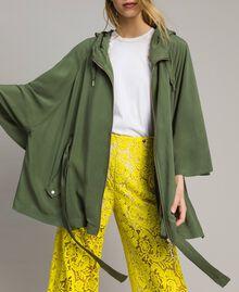 """Cape avec capuche Vert """"Cactus"""" Femme 191MT2311-0T"""