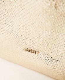 Сумка-шоппер с ламинированным тиснением Принт Питон Золотой Светлый женщина 211LM7ZLL-03