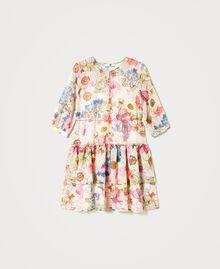 """Платье с цветочным принтом Принт Большой Цветок Розовый """"Розовая фуксия"""" женщина 211LM2JKK-0S"""