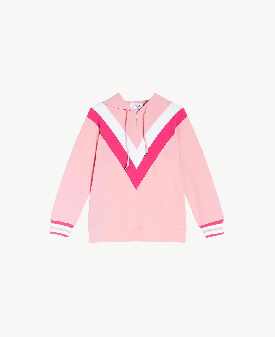 Sweatshirt aus Scuba Pinkie Sugar Frau LS82BB-01