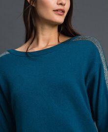 Robe avec bandes en lurex et fond de robe Bleu «Lake» Femme 192MP3100-05