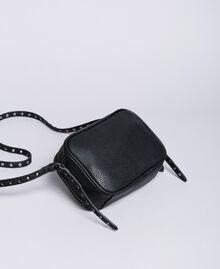 Sac à bandoulière en similicuir avec clous Noir Femme VA8PAE-03