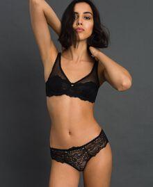 Culotte brésilienne en dentelle Noir Femme 192LL6C77-01