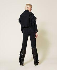 Carrot fit high waist jeans Black Denim Woman 212TP232C-03